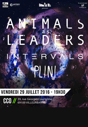 animals as leaders concerts villeurbanne le 29 07 2016. Black Bedroom Furniture Sets. Home Design Ideas