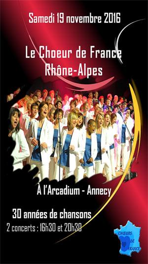 CHOEUR DE FRANCE RHONE-ALPES, Lieu : ARCADIUM