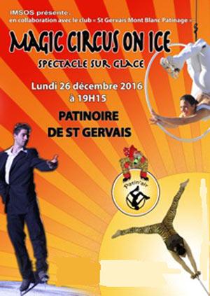 MAGIC CIRCUS ON ICE, PATINOIRE DE ST GERVAIS LES BAINS
