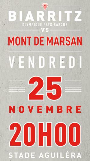 BIARRITZ / MONT-DE-MARSAN, Lieu : STADE AGUILERA
