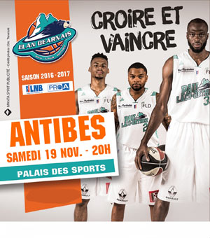 ELAN BEARNAIS / ANTIBES SHARKS, Lieu : PALAIS DES SPORTS