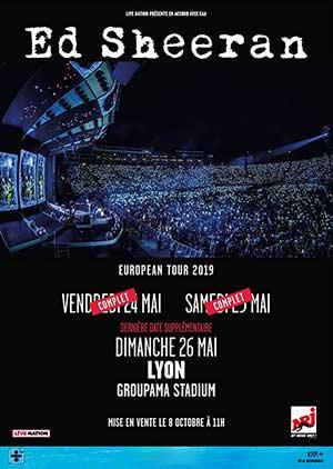 ED SHEERAN EUROPEAN TOUR 2019