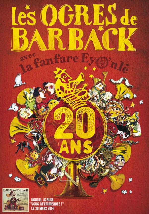 LES OGRES DE BARBACK ECHO SYSTEM concert de chanson française