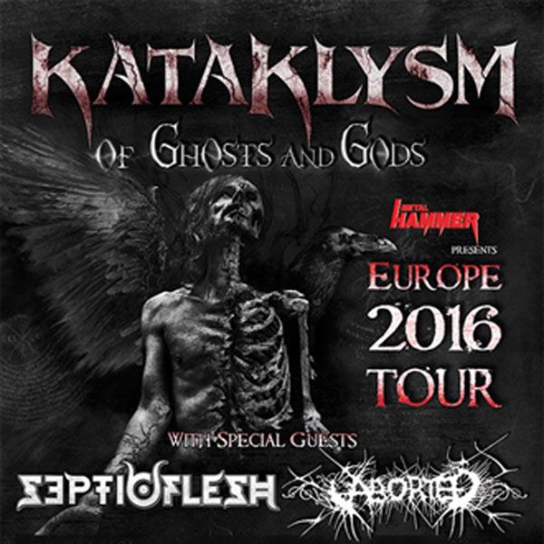 KATAKLYSM + SCEPTICFLESH + ABORTED LE 106 concert de hard-rock métal