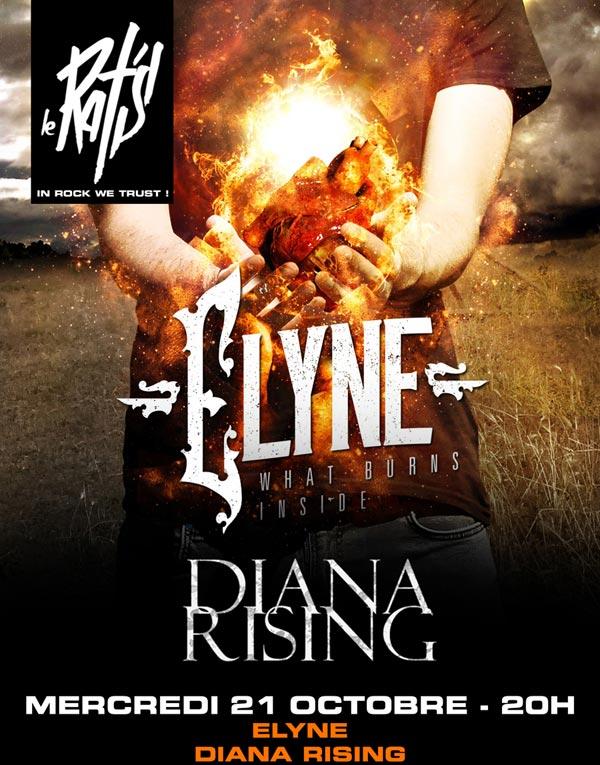Plus d'infos sur l'évènement ELYNE + DIANA RISING