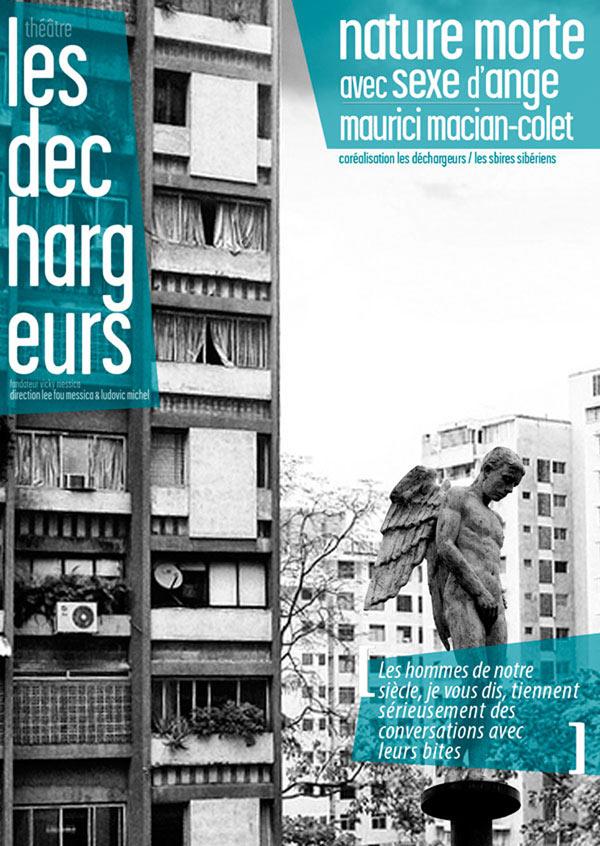NATURE MORTE AVEC SEXE D'ANGE THEATRE LES DECHARGEURS pièce de théâtre contemporain
