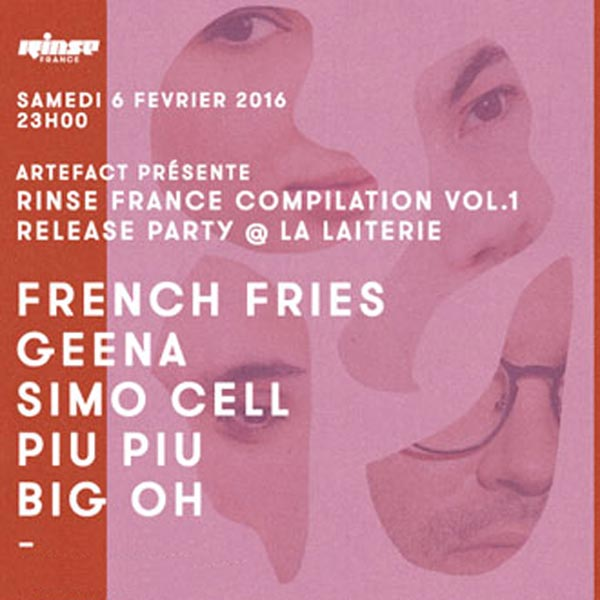 FRENCH FRIES + GEENA+ SIMO CELL LA LAITERIE concert d'électro