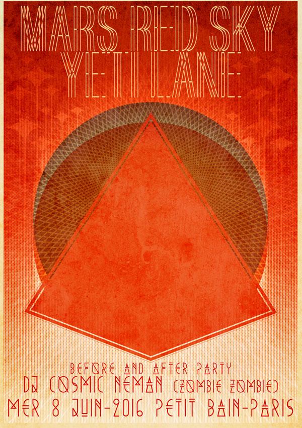 Plus d'infos sur l'évènement MARS RED SKY + YETI LANE