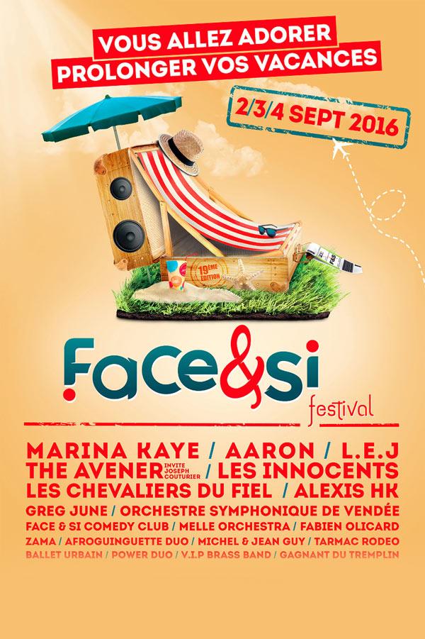 Plus d'infos sur l'évènement FESTIVAL FACE & SI - 3 JOURS