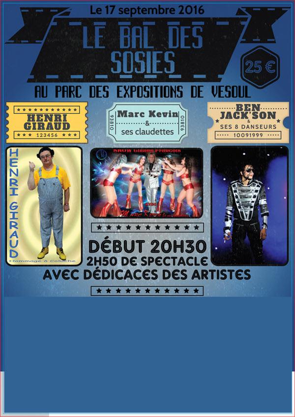 LE BAL DES SOSIES PARC EXPO 70 concert de variété internationale