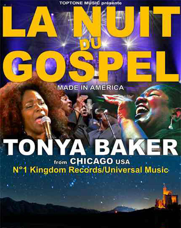 LA NUIT DU GOSPEL AVEC TONYA BAKER EGLISE SAINTE BERNADETTE gospel