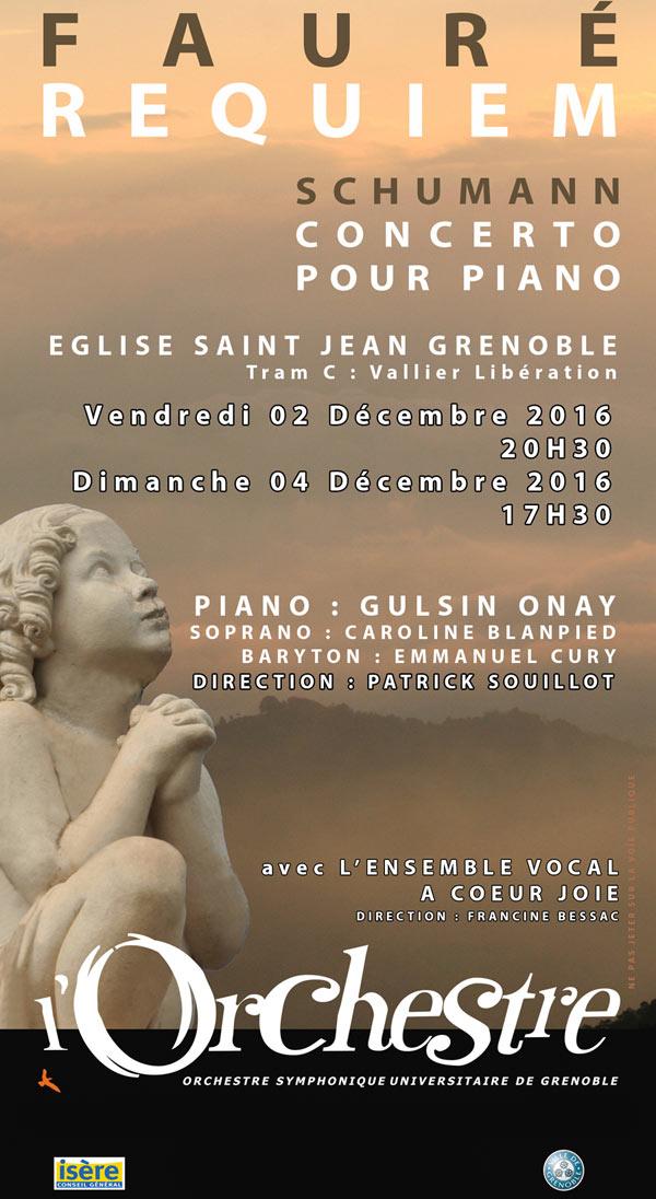 REQUIEM FAURE - SCHUMANN EGLISE JEAN XXIII concert de musique classique
