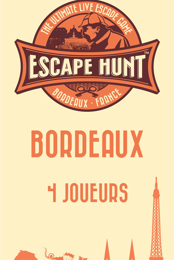 ESCAPE GAME BORDEAUX - 4 PERSONNES ESCAPE HUNT EXPERIENCE BORDEAUX activité, loisir