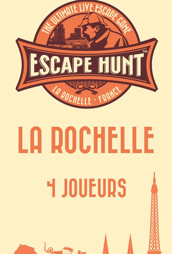 ESCAPE GAME LA ROCHELLE-4 PERSONNES ESCAPE HUNT EXPERIENCE LA ROCHELLE activité, loisir