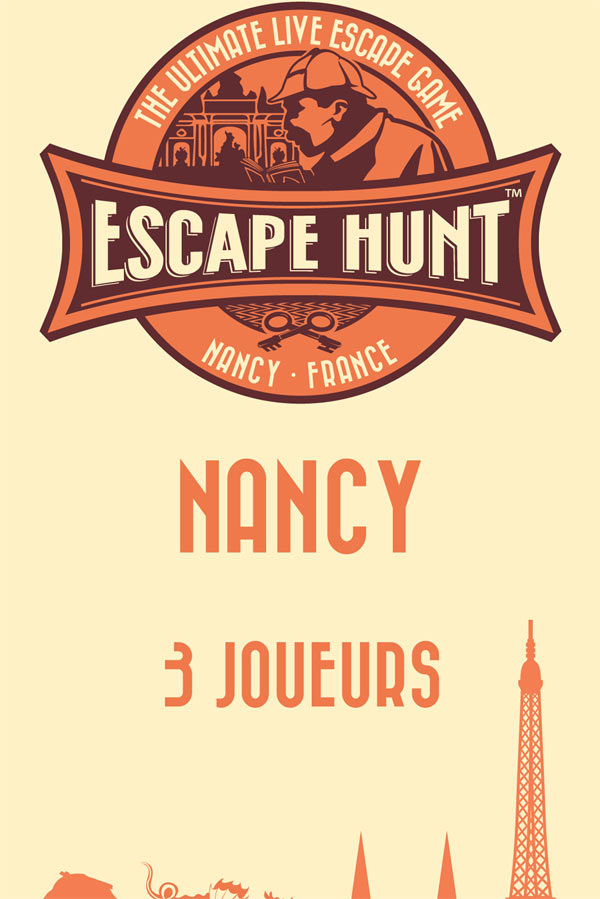 LIVE ESCAPE GAME NANCY- 3 PERSONNES