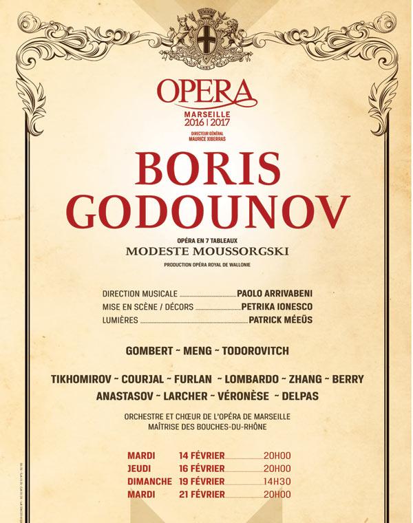 BORIS GODOUNOV OPERA MUNICIPAL opéra