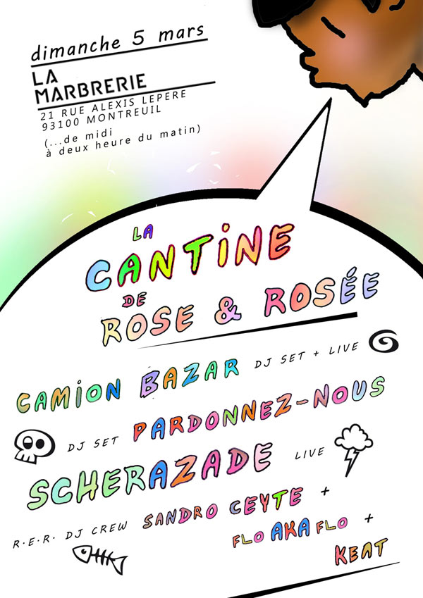 Plus d'infos sur l'évènement LA CANTINE DE ROSE ET ROSEE