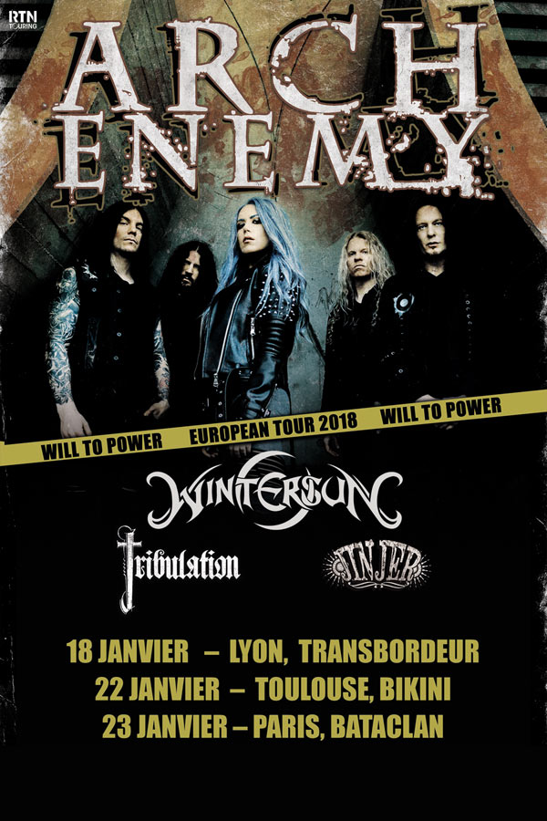 Arch Enemy french venues