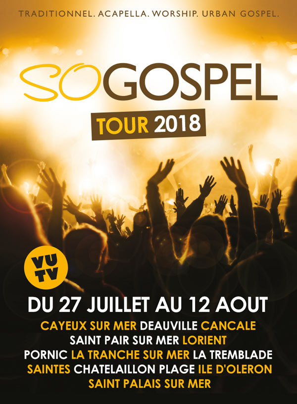 SO GOSPEL TOUR 2018 CHATELAILLON-PL