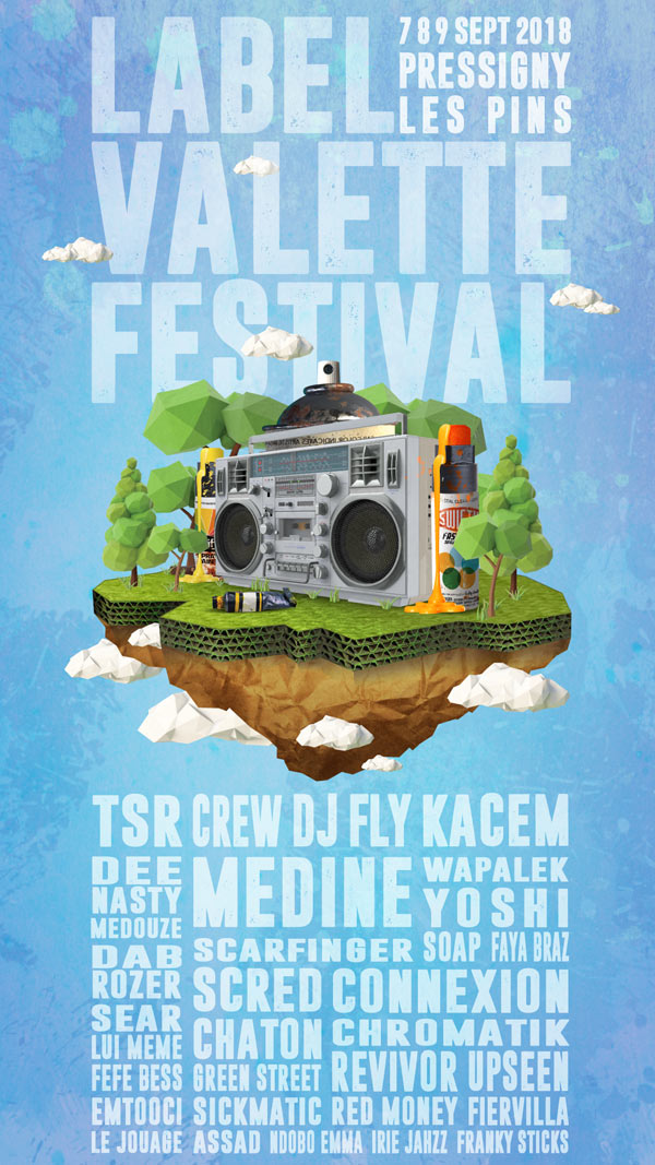 FESTIVAL LABEL VALETTE -PASS 3 J.