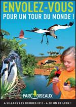affiche parc des oiseaux, villars les dombes