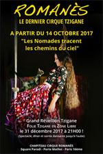 Affiche Romanes le dernier cirque tzigane