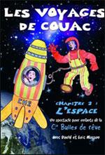 Affiche Les voyages de couac : l'espace