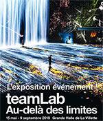 Affiche Teamlab : au-del〠des limites