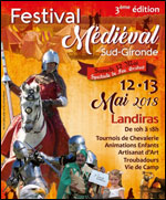 Affiche Festival medieval sud gironde