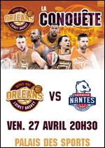 Affiche Orleans loiret basket / nantes
