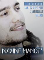 Affiche Maxime manot