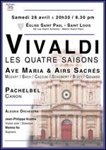 Affiche Vivaldi : les quatre saisons