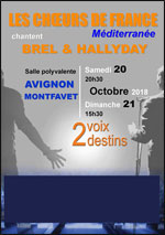 Affiche Brel - hallyday 2 voix 2 destins