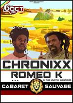 Affiche Chronixx + romeo k
