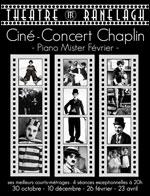 Affiche Les cine-concerts chaplin