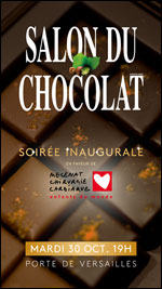 Affiche Salon du chocolat paris