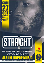 Affiche Straight: release party unpop music