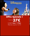 R�servation VENTE FLASH DISNEY-1 JOUR -2-PARCS