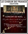 R�servation LE CHOEUR DE FRANCE CHANTE NOEL