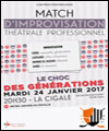 R�servation MATCH D'IMPRO PROFESSIONNEL