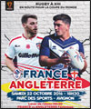 R�servation FRANCE / ANGLETERRE RUGBY A XIII