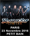 R�servation RHAPSODY OF FIRE + ALMANAC