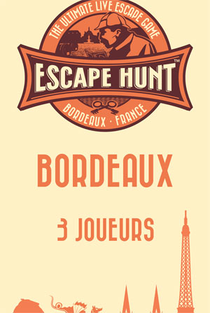 ESCAPE GAME BORDEAUX - 3 PERSONNES ESCAPE HUNT EXPERIENCE BORDEAUX activité, loisir