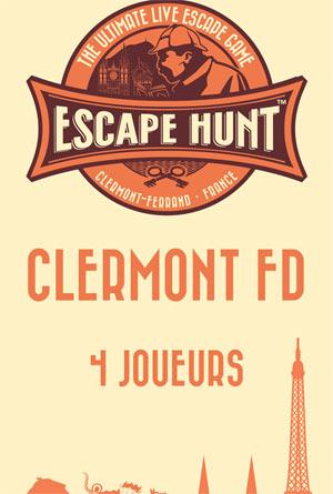 ESCAPE GAME CLERMONT FD-4 PERSONNES ESCAPE HUNT EXPERIENCE CLERMONT-FD activité, loisir