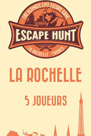 ESCAPE GAME LA ROCHELLE-5 PERSONNES ESCAPE HUNT EXPERIENCE LA ROCHELLE activité, loisir