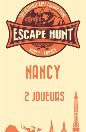 LIVE ESCAPE GAME NANCY -2 PERSONNES ESCAPE HUNT EXPERIENCE NANCY activité, loisir