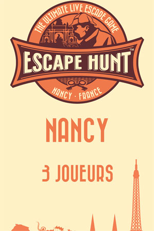 LIVE ESCAPE GAME NANCY- 3 PERSONNES ESCAPE HUNT EXPERIENCE NANCY activité, loisir