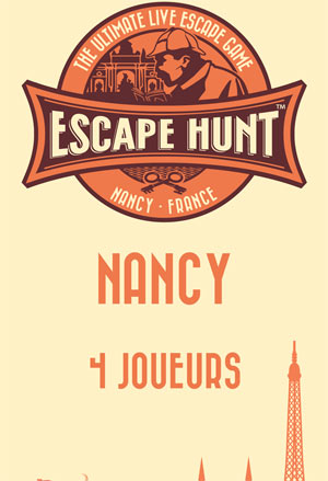 LIVE ESCAPE GAME NANCY- 4 PERSONNES ESCAPE HUNT EXPERIENCE NANCY activité, loisir