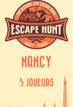 LIVE ESCAPE GAME NANCY- 5 PERSONNES ESCAPE HUNT EXPERIENCE NANCY activité, loisir
