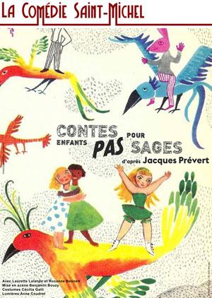 CONTES POUR ENFANTS PAS SAGES LA COMEDIE ST MICHEL marionnettes
